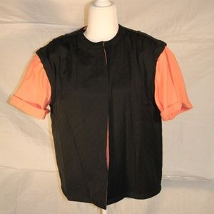 Vintage Giorgio Armani vest with attached shirt, M